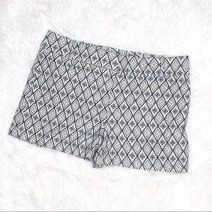 LOFT | Blue Patterned Shorts